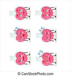 Cartoon character of love potion with sleepy expression....