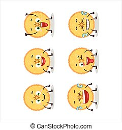 Cartoon character of savory pie with smile expression.Vector...