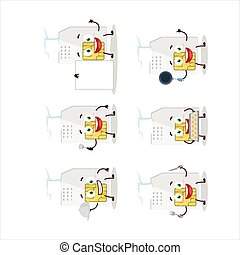 Cartoon character of sim card with various chef emoticons....