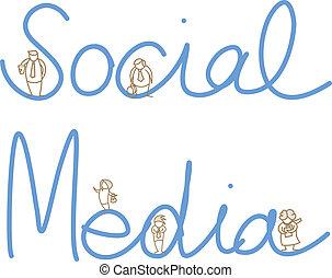 cartoon character of social media people