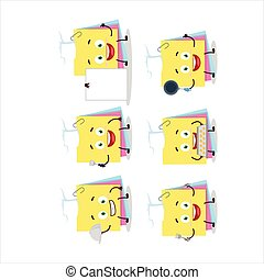Cartoon character of sticky notes paper with various chef ...