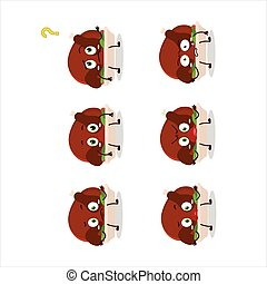 Cartoon character of turkey meat with what expression