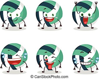 Cartoon character of volley ball with smile expression
