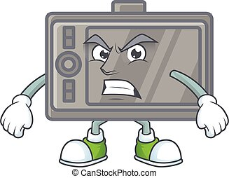 cartoon character of wacom with angry face