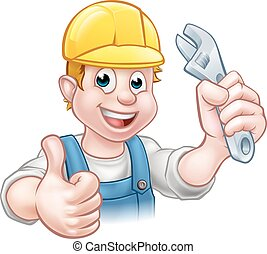 Cartoon Character Plumber or Mechanic