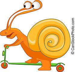 Cartoon Character Snail