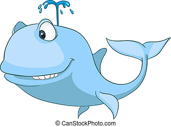 Cartoon Character Whale
