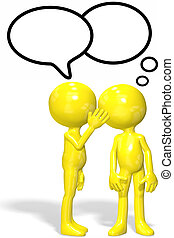 Cartoon character whispers gossip secrets - A cartoon ...