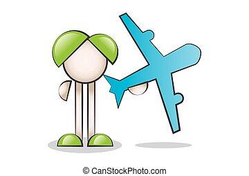 Cartoon Characters and aircraft