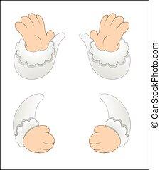 Cartoon Characters Hands Vectors