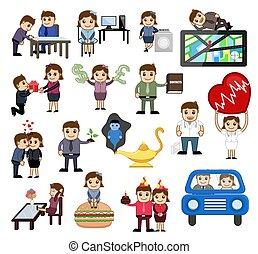 Cartoon Characters Various Vector Graphics