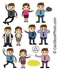 Cartoon Characters Vectors Set