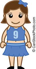 Cartoon Cheerleader Girl Character