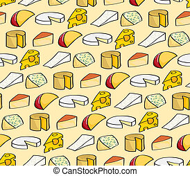 Cartoon Cheese Seamless Background