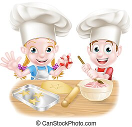 Cartoon Chef Baker Children