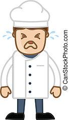 Cartoon Chef Crying Vector