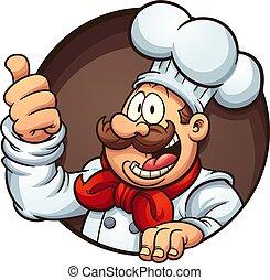 Cartoon chef - Happy cartoon chef. Vector clip art...
