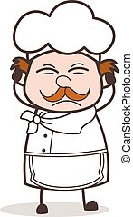 Cartoon Chef Frustrated Face Expression