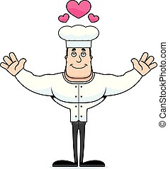 Cartoon Chef  Hug