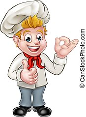 Cartoon Chef or Baker Character