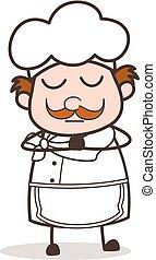Cartoon Chef Praying Vector Concept