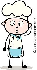 Cartoon Chef Shocking Emotion Vector Illustration