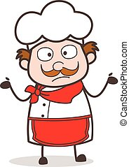 Cartoon Chef Surprised Face Vector Illustration