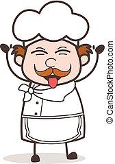 Cartoon Chef Teasing Funny Face