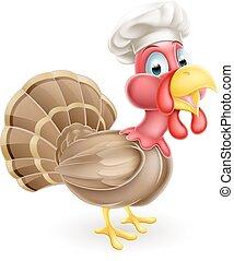 Cartoon Chef Turkey