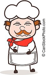 Cartoon Chef with Confounded Face Vector Illustration