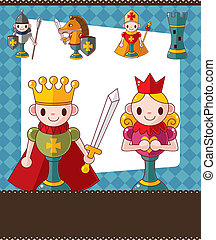 cartoon chess card