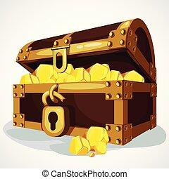 Cartoon chest full of gold