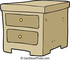 cartoon chest of drawers - freehand drawn cartoon chest of...