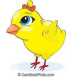 Cartoon chicken. illustration
