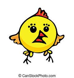 Cartoon chicken.