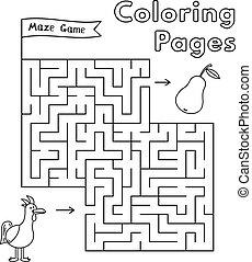 Cartoon Chicken Maze Game