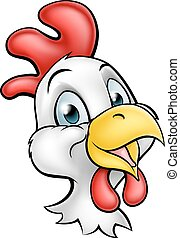 Cartoon Chicken Rooster Character - A cute cartoon chicken...