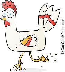 cartoon chicken running