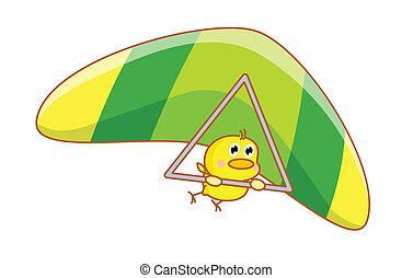cartoon chicks skydiving