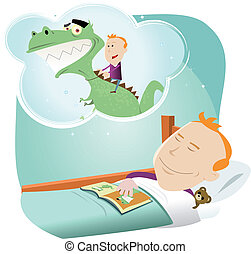 Cartoon Child Dreaming