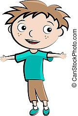 Cartoon child happy boy avatar