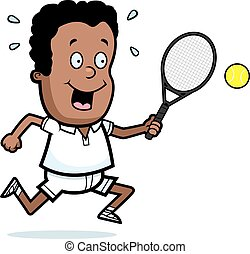 Cartoon Child Tennis
