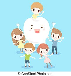 cartoon child with tooth