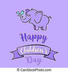 Cartoon children day celebration style