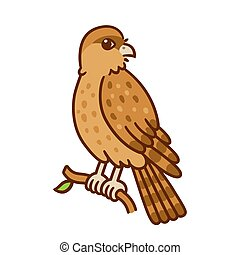 Cartoon Chimango bird - Cartoon drawing of Tiuque (Chimango...