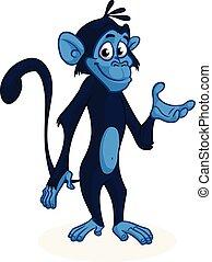 Cartoon chimpanzee monkey