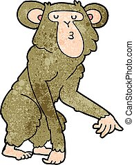 cartoon chimpanzee