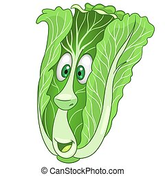 Cartoon Chinese Cabbage Vegetable