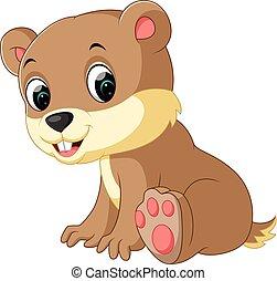 Cartoon chipmunk - illustration of cute chipmunk cartoon