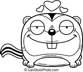 Cartoon Chipmunk Love - A cartoon illustration of a chipmunk...